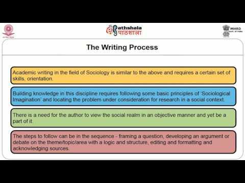 Academic Writing: Language, Presentation and Citation
