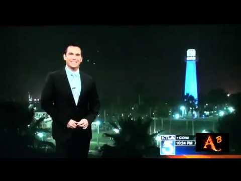 UFO'S ON LIVE TV LONG BEACH CALIFORNIA USA 19TH AUGUST 2012