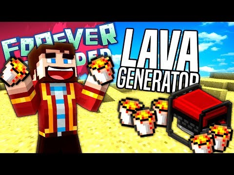 Minecraft - LAVA GENERATOR - Forever Stranded #16