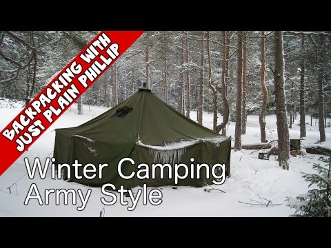 Winter Camping Army Style -  Best Quality 1955 Training Film - Backpacking with Just Plain Phillip