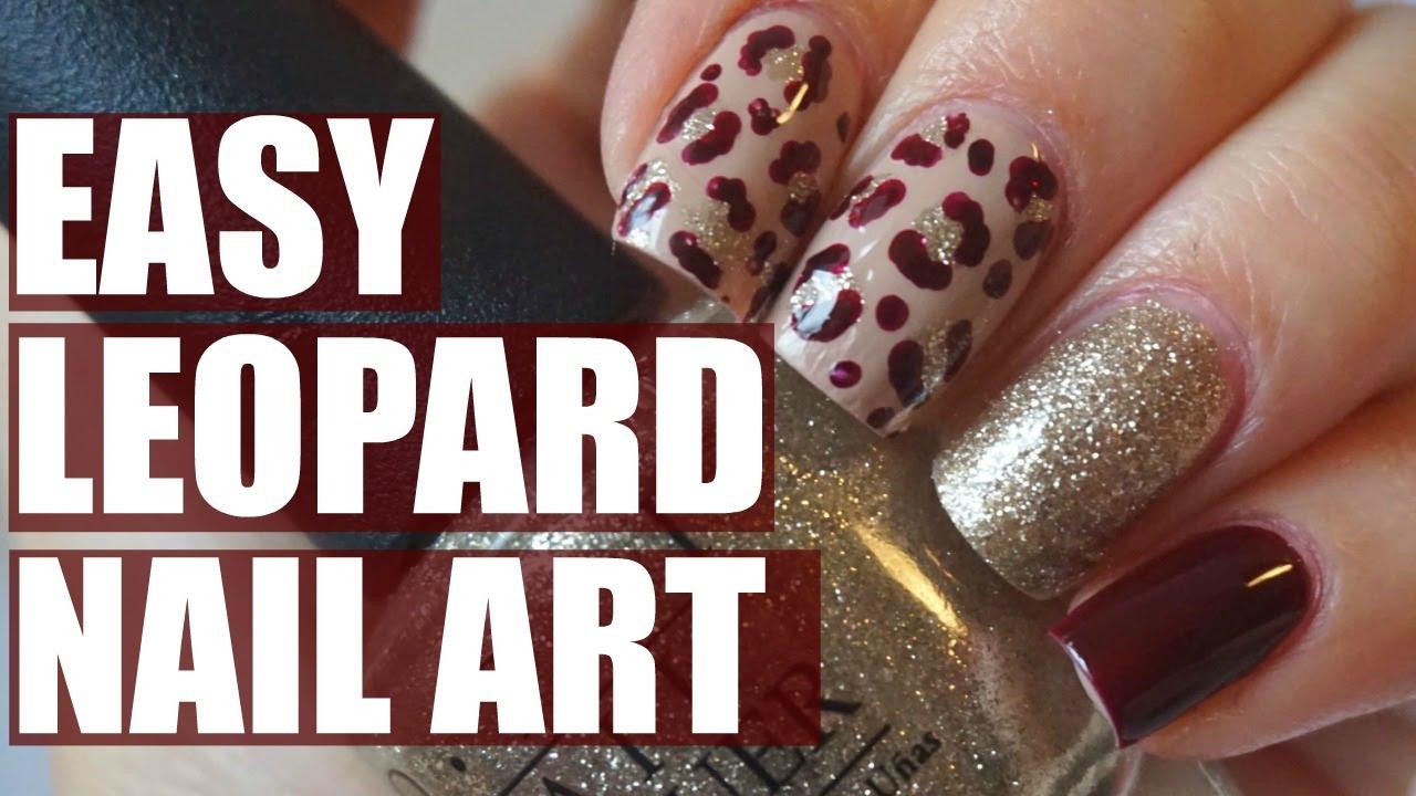 Easy Leopard Nail Art | No tools! - YouTube