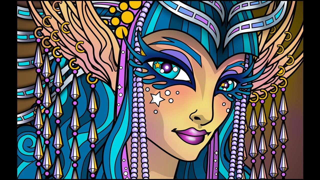 Lost Lumina 20 Timelapse Coloring Book Speed Art By Cristina McAllister