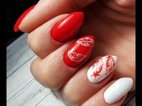 Ногти красно белые