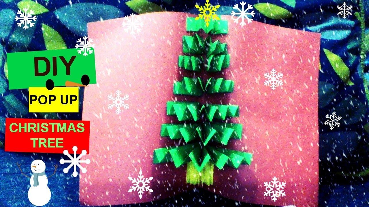 DIY 3D Pop-up Christmas Tree Card , Shorter Version, VERY
