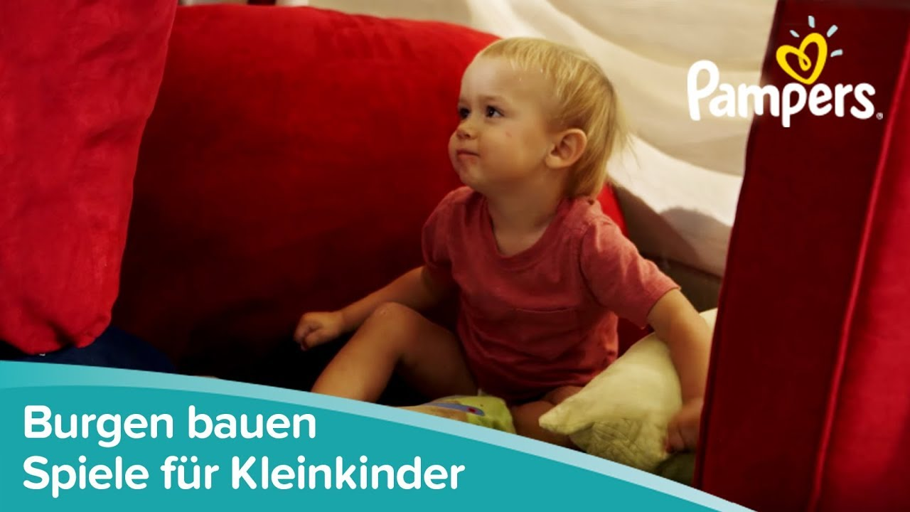 spiele f r kleinkinder h hlen bauen im kinderzimmer pampers youtube. Black Bedroom Furniture Sets. Home Design Ideas