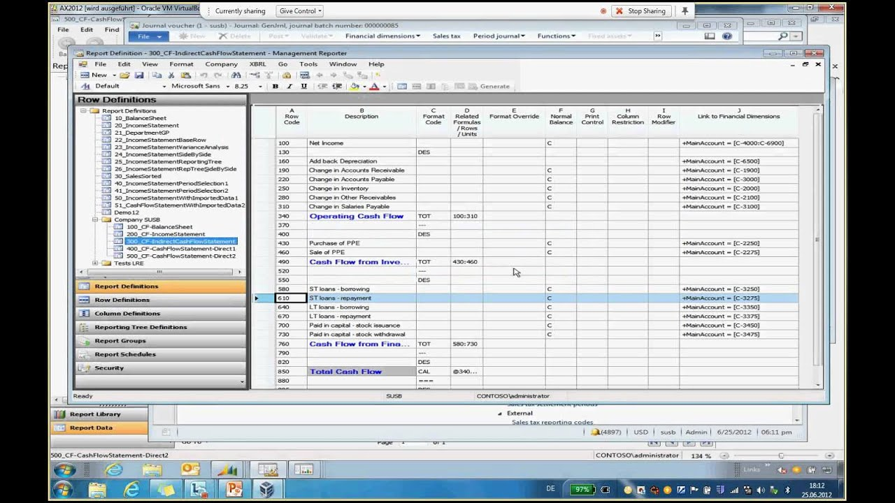 cash flow statement software