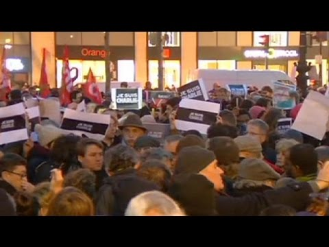 Thousands gather across France for Charlie Hebdo demonstrations - no comment