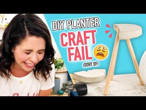 DIY Cement Planter CRAFT FAIL (sort of) - HGTV Handmade
