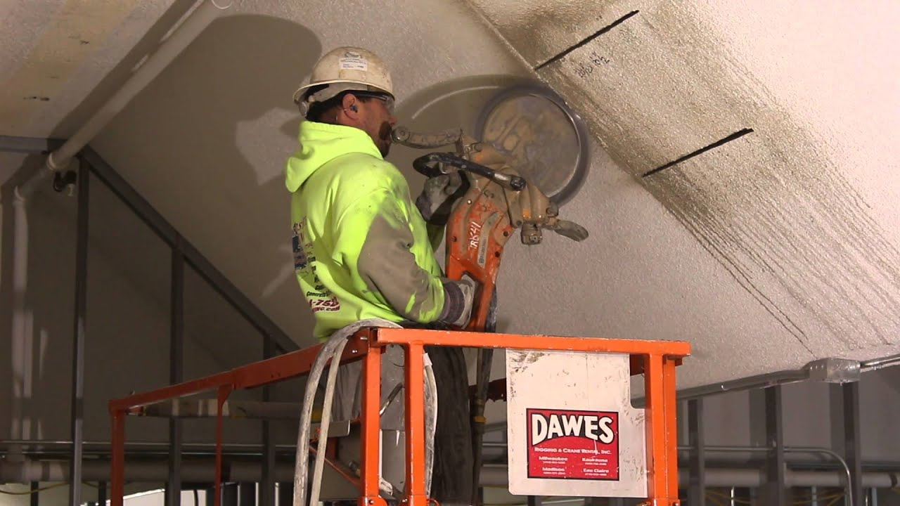Concrete Ceiling Vent Cuts and Removal - YouTube