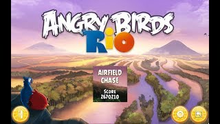 Angry Birds: Rio. Airfield Chase (level 1) 3 stars. Прохождение от SAFa