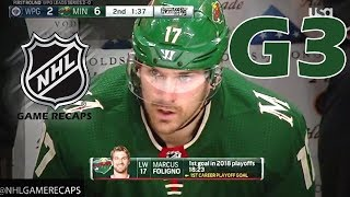 Winnipeg Jets vs Minnesota Wild. 2018 NHL Playoffs. Round 1. Game 3. April 15th, 2018. (HD)