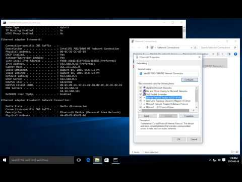 Windows 10 Networking - Set up a Static IP Address
