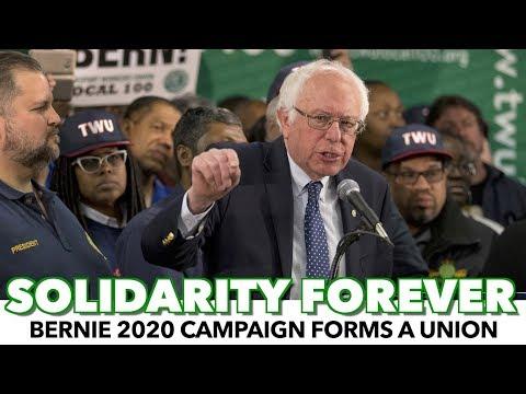 Bernie Walks The Talk On Organized Labour