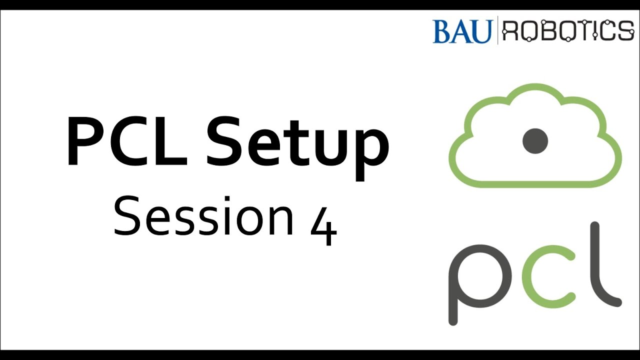 Point Cloud Library setup - Session 4 - Running a PCL tutorial