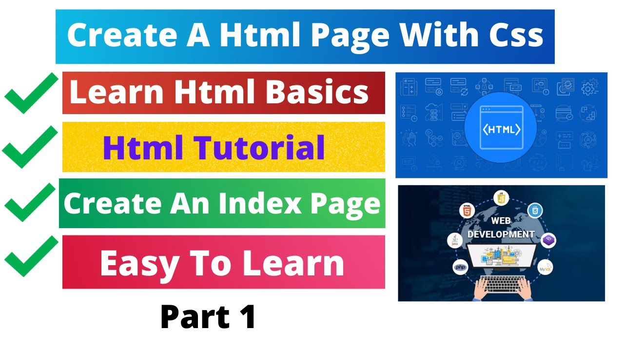 How To Create A Html Page With Css