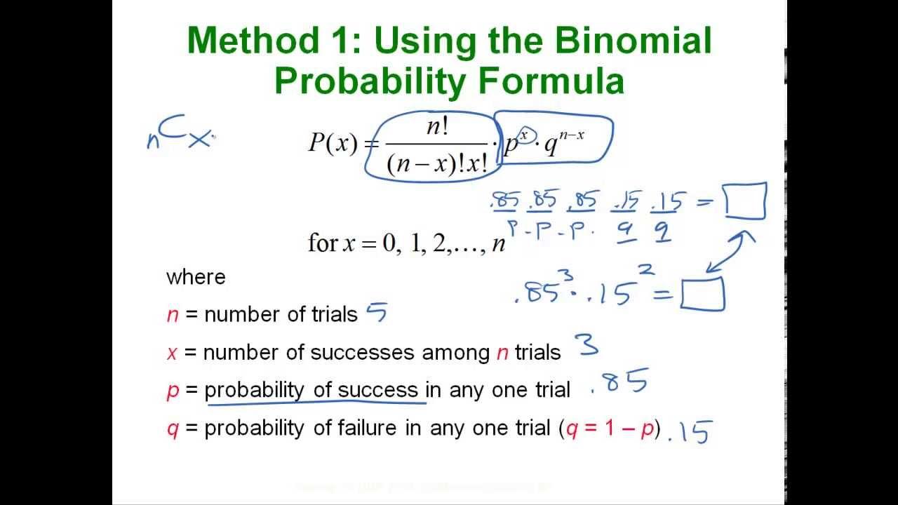 Statistics - Binomial & Poisson Distributions
