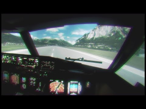 Полет от первого лица на BOEING 737 в Австрии. РЕАЛЬНОСТЬ