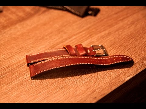 Making a Leather Watch Strap with Hand Tools (How to Make a Leather Watch Strap)