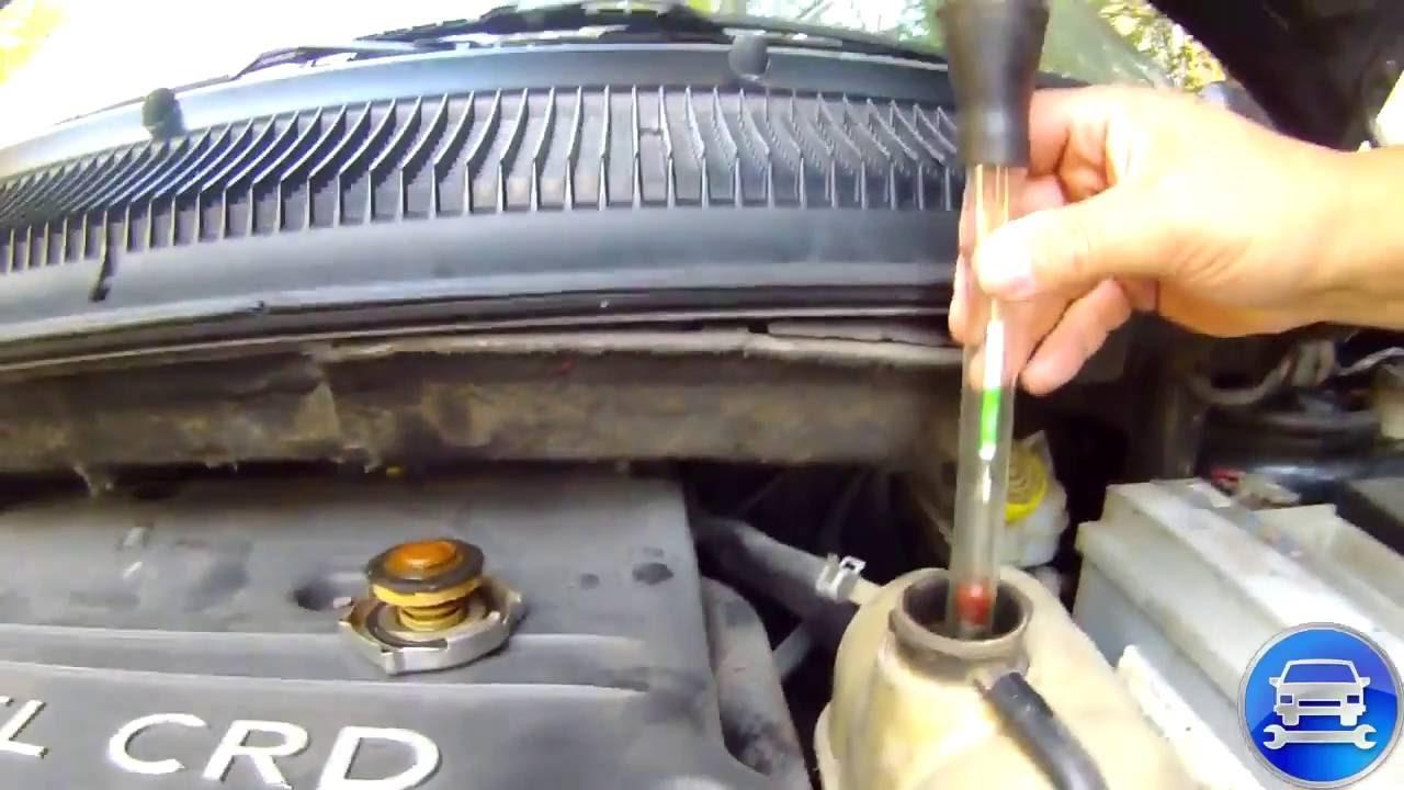 Как проверить датчик охлаждения жидкости при рабочем двигателе chrysler dodge
