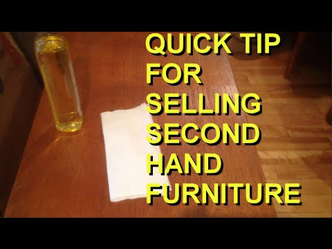 quick tip for selling second hand furniture