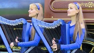 OZZY OSBOURNE - Crazy Train - Harp Twins (Camille and Kennerly) HARP METAL
