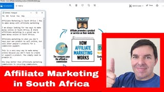 Affiliate marketing in south africa ...