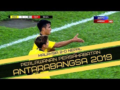 Malaysia 2-0 Nepal   Perlawanan Persahabatan Antarabangsa 2019   Astro Arena