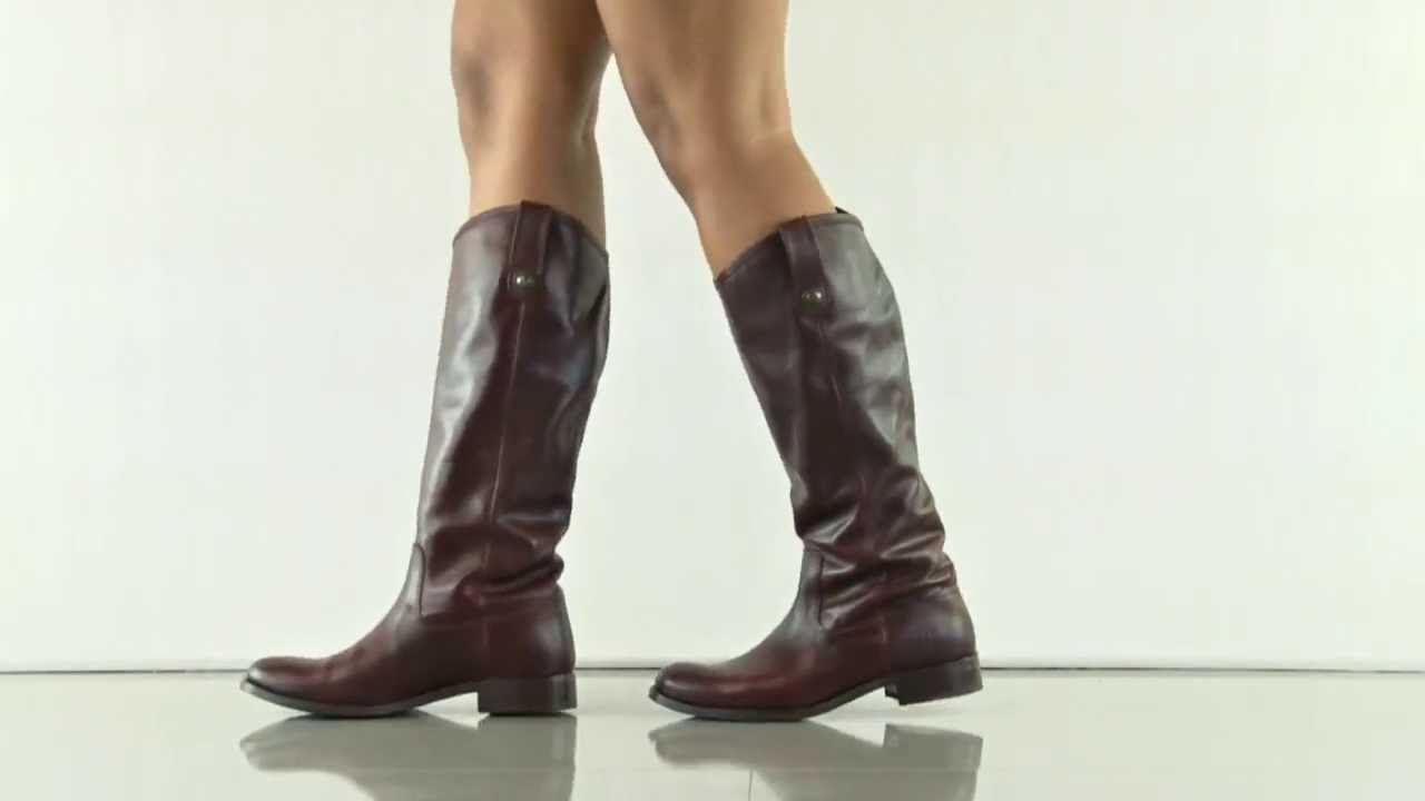 melissa button in bordeaux 77167 frye shoes youtube