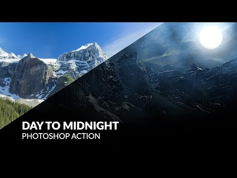 Day To Midnight Photoshop Action Tutorial