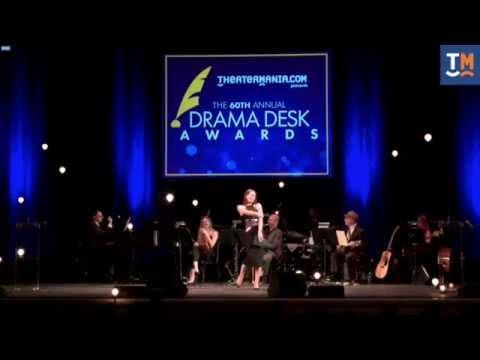 Laura Benanti hosts the 2015 Drama Desk Awards.