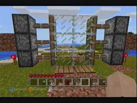 Minecraft xbox 360 tutorial como construir una puerta for Puerta xor minecraft