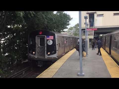 NYC BMT Brighton Subway Line: R160 (Q) & R68/A (B) trains @ Kings Highway