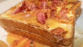 Caramel Bacon Stuffed French Toast With Cookingandcrafting - A Denny's Breakfast Idea