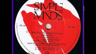 Simple Minds -Sanctify Yourself (Instrumental) b side 7""
