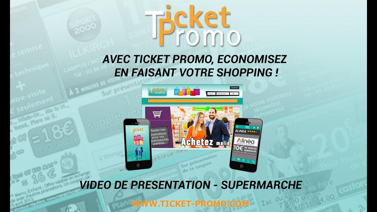 Ticket Promo présentation du site et de l'Application - Supermarché
