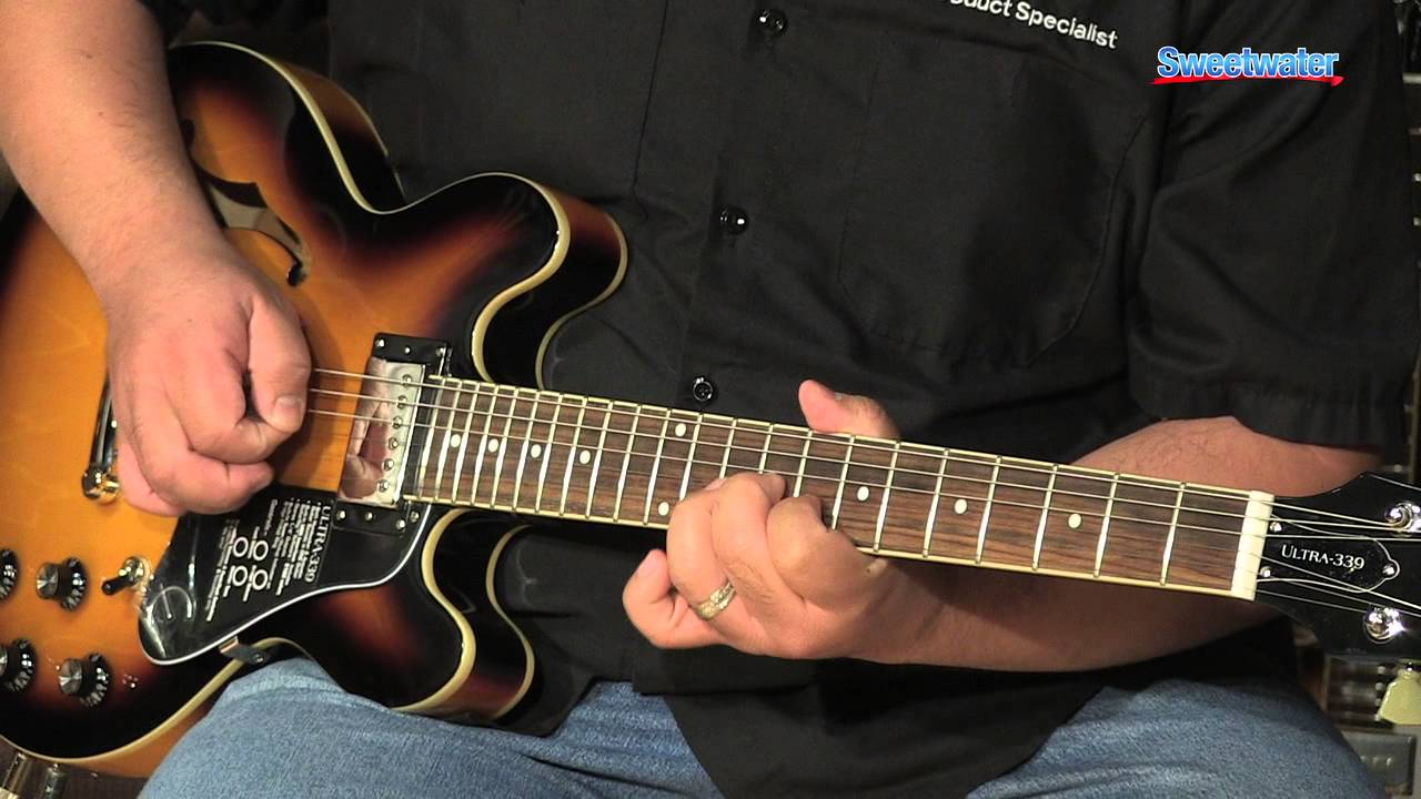epiphone ultra 339 semi hollowbody electric guitar demo sweetwater sound youtube. Black Bedroom Furniture Sets. Home Design Ideas