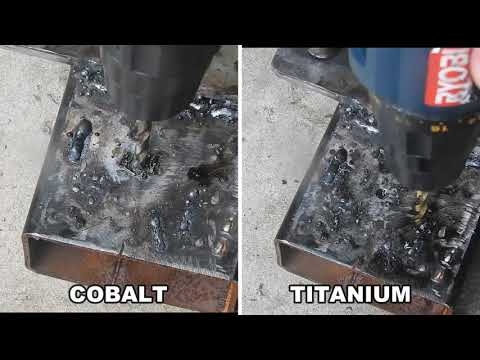 Drilling Steel COBALT VS TITANIUM Drill Bits Test