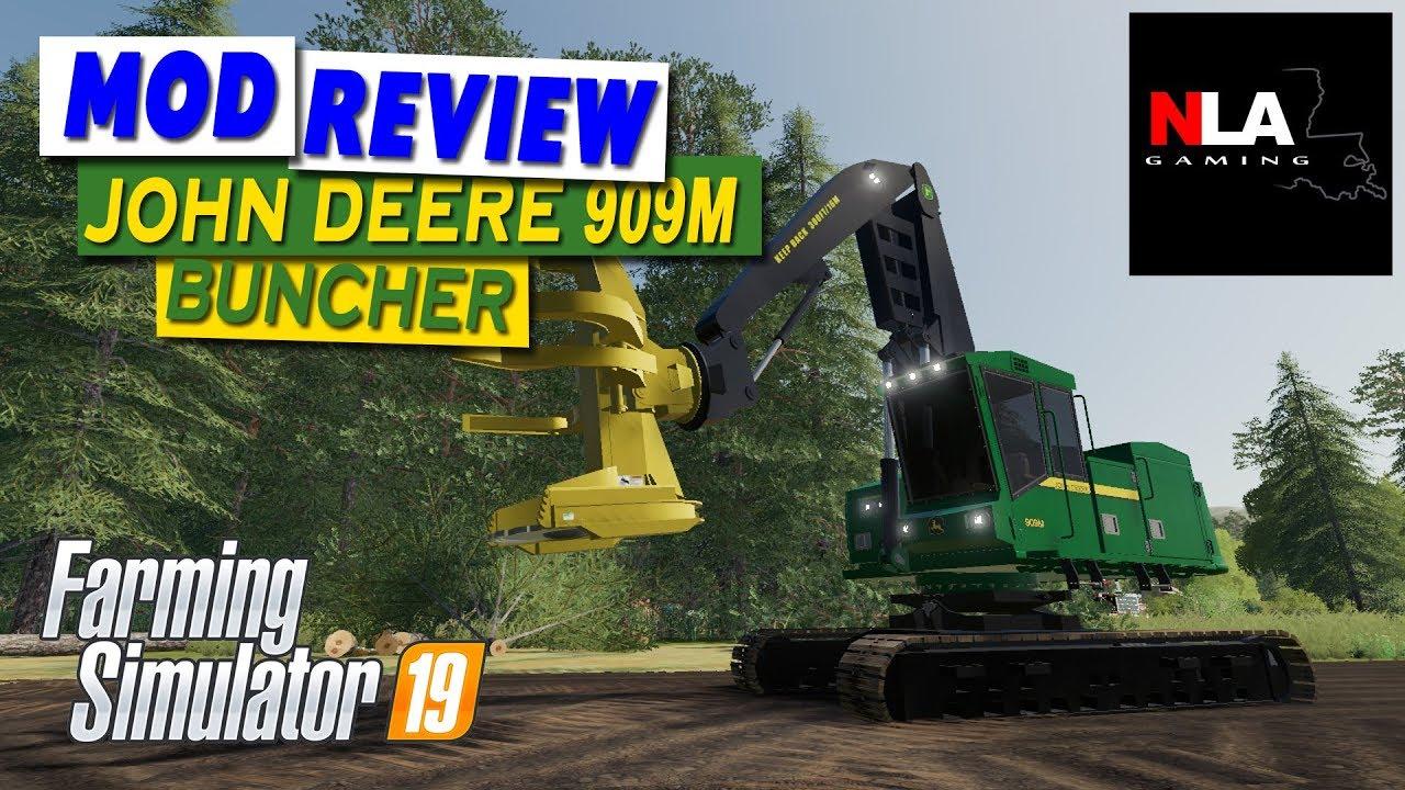 Farming Simulator 19 - Mod Review - FDR Logging John Deere 909M