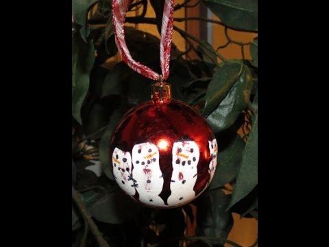 DIY Kid Handprint Snowmen Ornament  YouTube