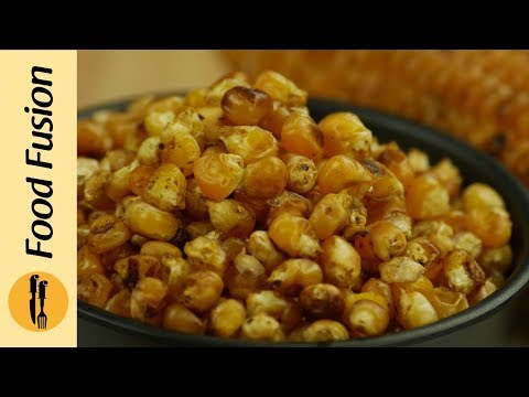 Salt Roasted Corn (Makai) & Chickpeas (Chanay)  Recipe By Food Fusion