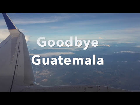 United Airlines Boeing 737-800 Guatemala to Houston Take off and landing