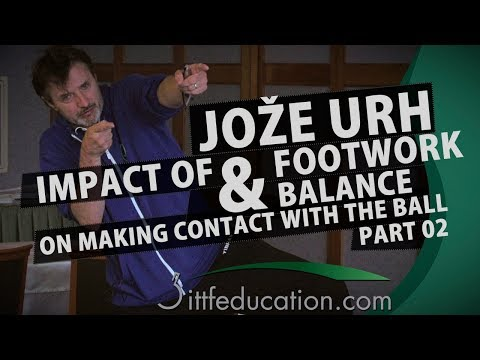Joze Urh Impact of Footwork and Balance On Making Contact With The Ball  Part 2