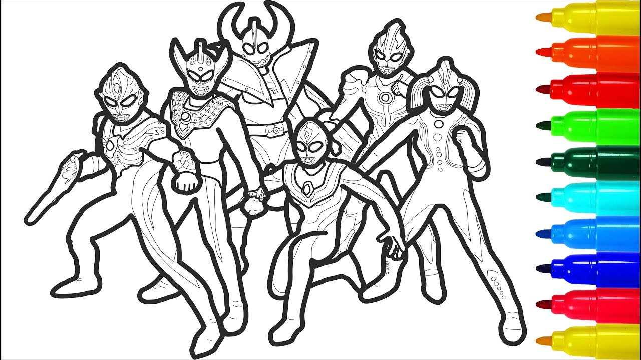 Coloring Pages For Kids Ultraman Hd Football