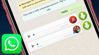 In this tutorial you will learn how to save music & voice messages from whatsapp your iphone can files app or vlc for mobile by v...