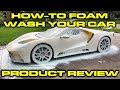 How to snow foam wash your car with a PowRyte electric pressure washer & foam cannon - Ford GT