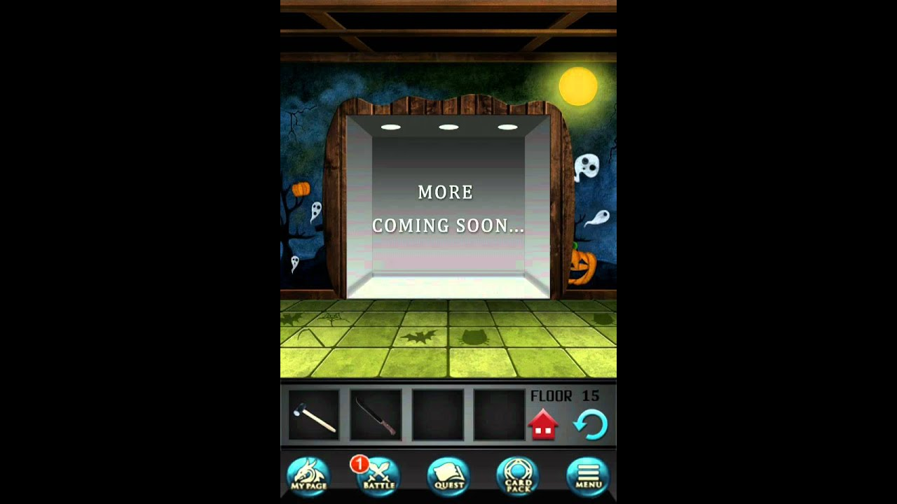 100 Floors Seasons Tower Level 15 Halloween Walkthrough