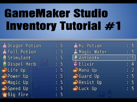 Game Maker Inventory 1 Youtube