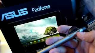 Asus PadFone Hands on with Stylus and Dock