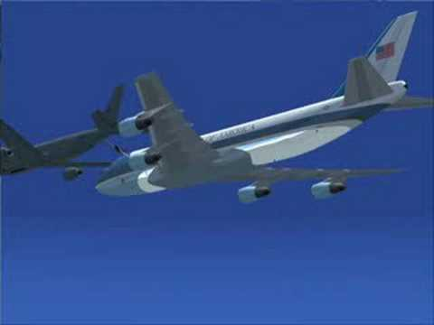 air force one mid air refueling