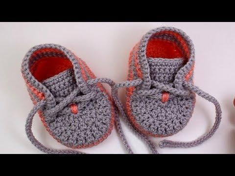 DIY crochet baby sneakers//Vasilisa